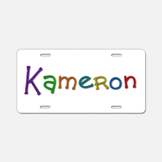 Kameron Play Clay Aluminum License Plate