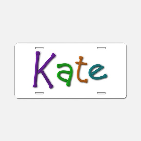 Kate Play Clay Aluminum License Plate