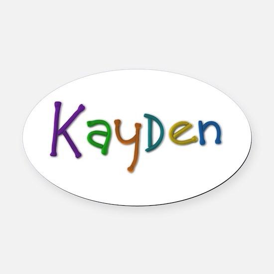 Kayden Play Clay Oval Car Magnet
