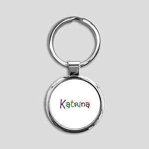 Katrina Play Clay Round Keychain