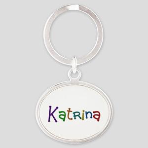 Katrina Play Clay Oval Keychain