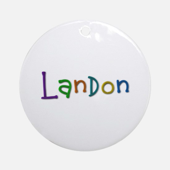 Landon Play Clay Round Ornament