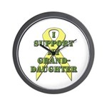 I Support My Granddaughter Wall Clock