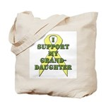 I Support My Granddaughter Tote Bag