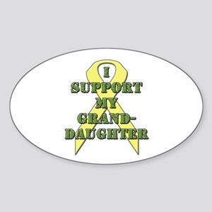 I Support My Granddaughter Oval Sticker