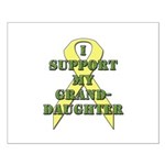 I Support My Granddaughter Small Poster
