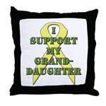 I Support My Granddaughter Throw Pillow