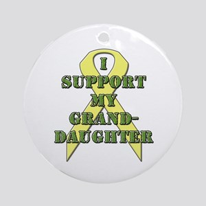 I Support My Granddaughter Ornament (Round)