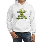 I Support My Granddaughter Hooded Sweatshirt