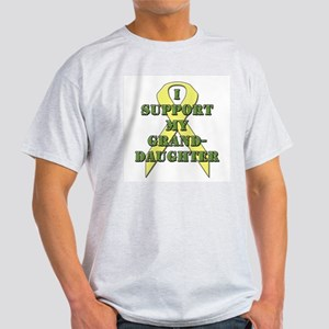 I Support My Granddaughter Ash Grey T-Shirt