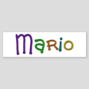 Mario Play Clay Bumper Sticker