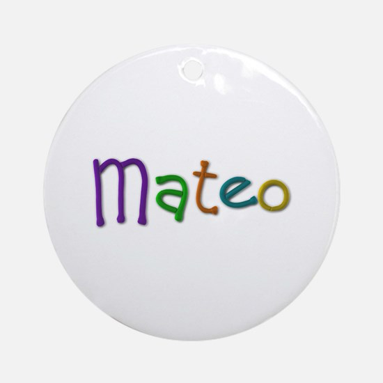 Mateo Play Clay Round Ornament