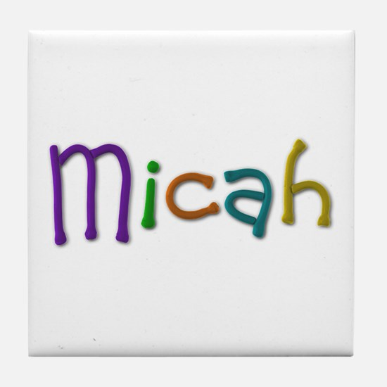 Micah Play Clay Tile Coaster