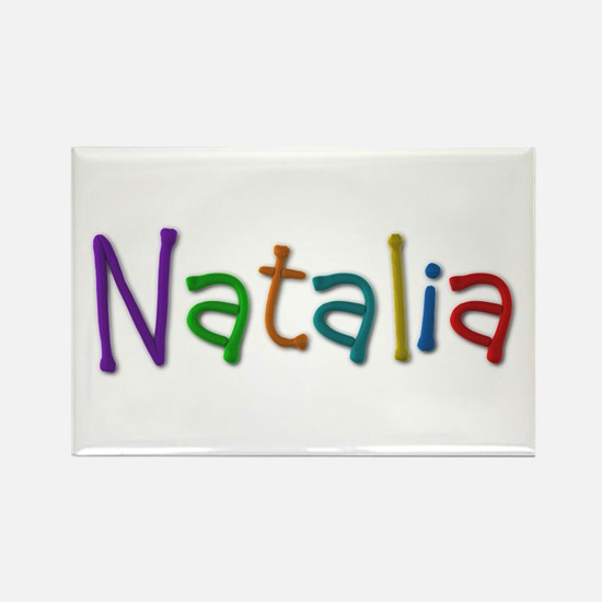 Natalia Play Clay Rectangle Magnet
