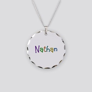 Nathan Play Clay Necklace Circle Charm