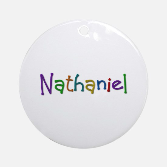 Nathaniel Play Clay Round Ornament