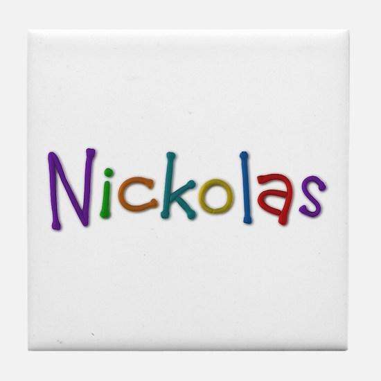 Nickolas Play Clay Tile Coaster
