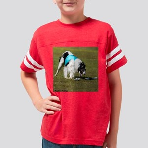 White with Black Borzoi Lure  Youth Football Shirt