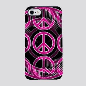 Pink Peace Signs iPhone 7 Tough Case