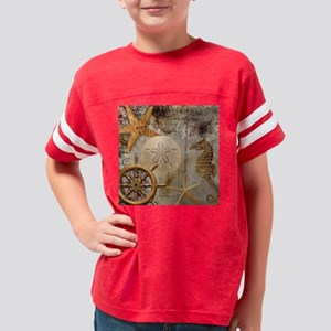 Nautical Postcard Collage Youth Football Shirt