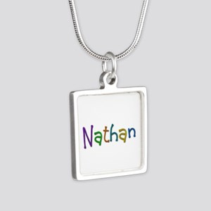 Nathan Play Clay Silver Square Necklace
