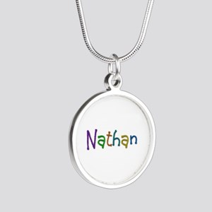 Nathan Play Clay Silver Round Necklace