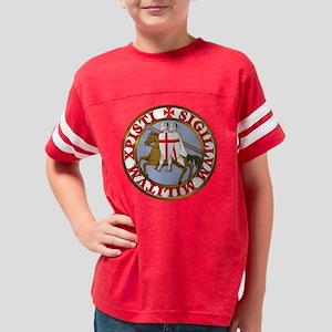 Knights Templar seal Youth Football Shirt