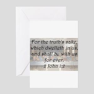2 John 1-2 Greeting Card
