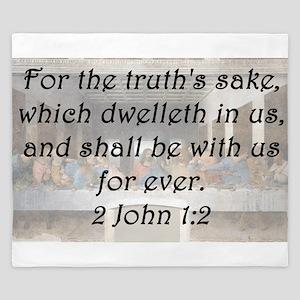 2 John 1-2 King Duvet