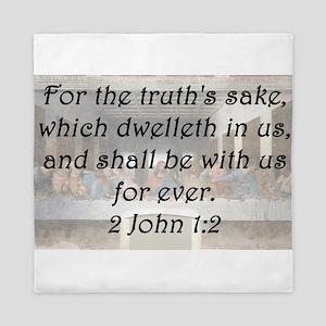 2 John 1-2 Queen Duvet