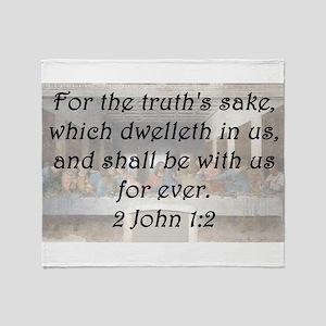 2 John 1-2 Throw Blanket