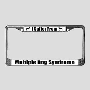 Multiple Dog Syndrome License Plate Frame