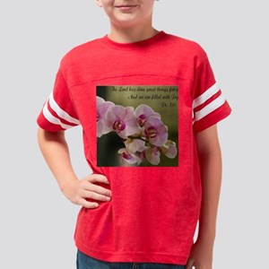 Orchid/Filled with Joy Decora Youth Football Shirt