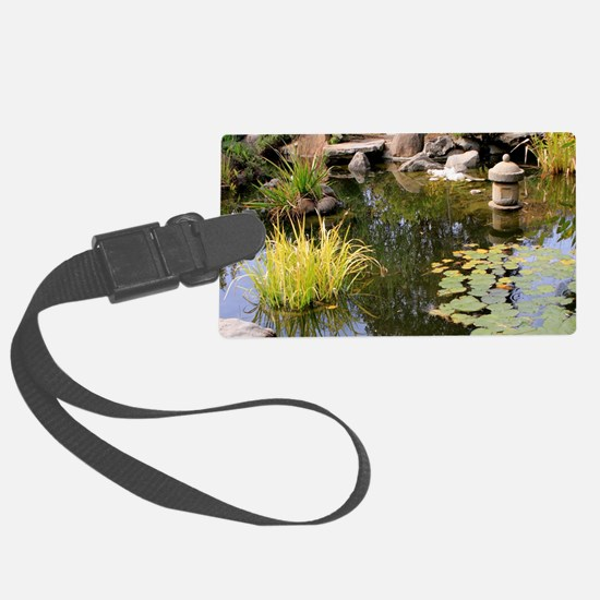 Reflections, Japanese garden pon Luggage Tag