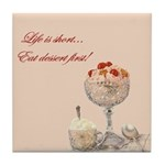 LIFE IS SHORT-Tile Coaster