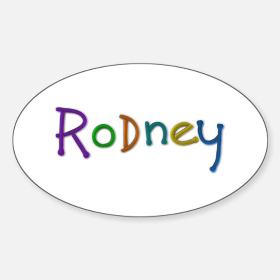 Rodney Play Clay Oval Decal