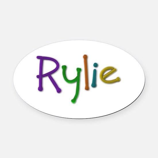 Rylie Play Clay Oval Car Magnet