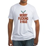 Merry Fucking X-mas Fitted T-Shirt