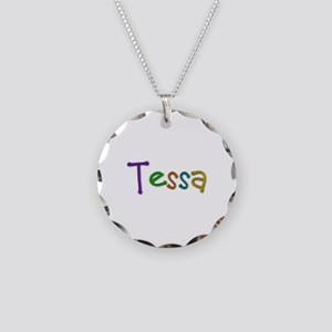 Tessa Play Clay Necklace Circle Charm