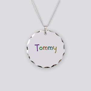Tommy Play Clay Necklace Circle Charm