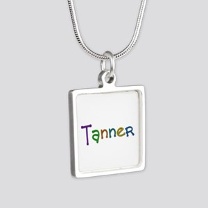 Tanner Play Clay Silver Square Necklace