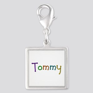 Tommy Play Clay Silver Square Charm