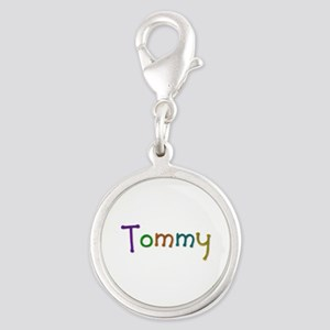 Tommy Play Clay Silver Round Charm