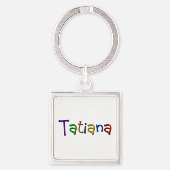 Tatiana Play Clay Square Keychain