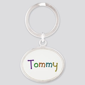 Tommy Play Clay Oval Keychain