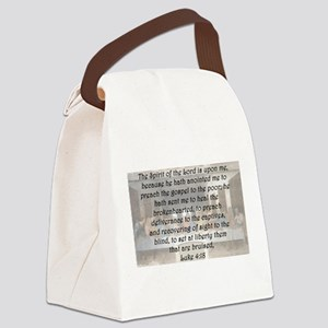Luke 4:18 Canvas Lunch Bag