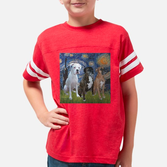 T-Starry Night - 3 Boxers Youth Football Shirt
