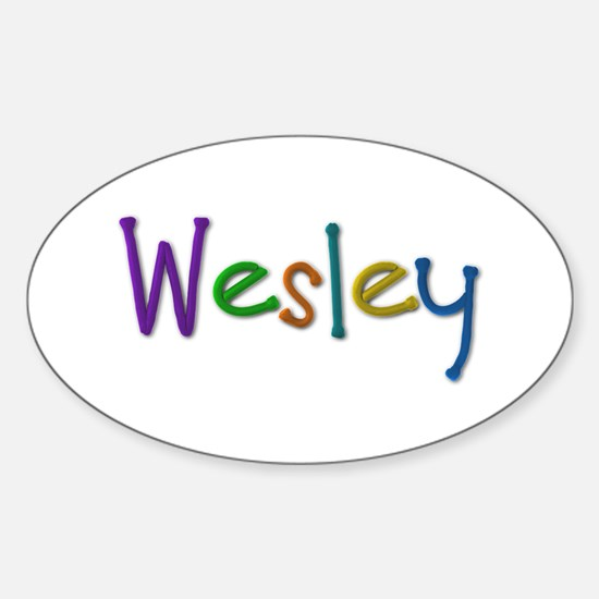 Wesley Play Clay Oval Decal
