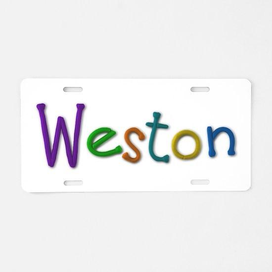 Weston Play Clay Aluminum License Plate