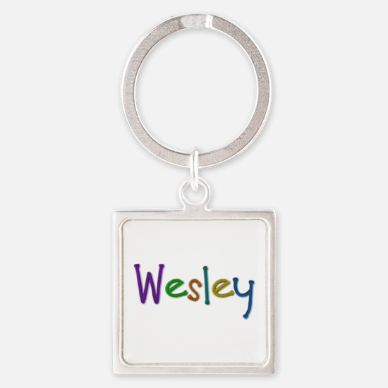 Wesley Play Clay Square Keychain
